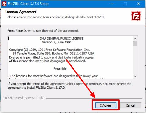 FileZilla Client paso 1