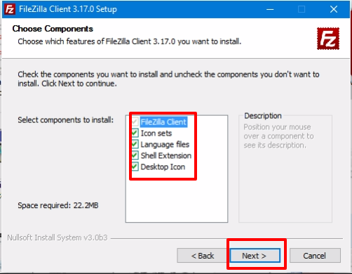 FileZilla Client paso 3