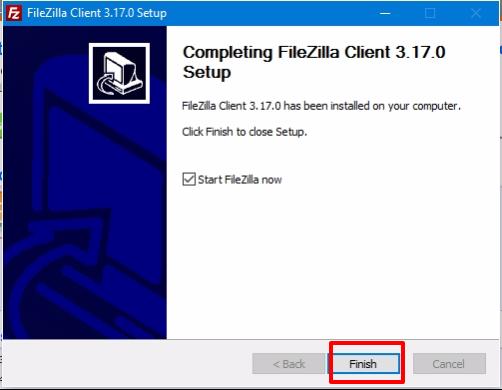 FileZilla Client paso 6