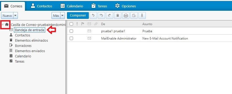 Ver correo en Webmail MailEnable