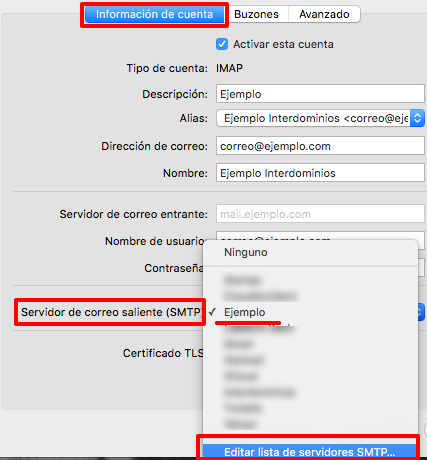 SMTP salida