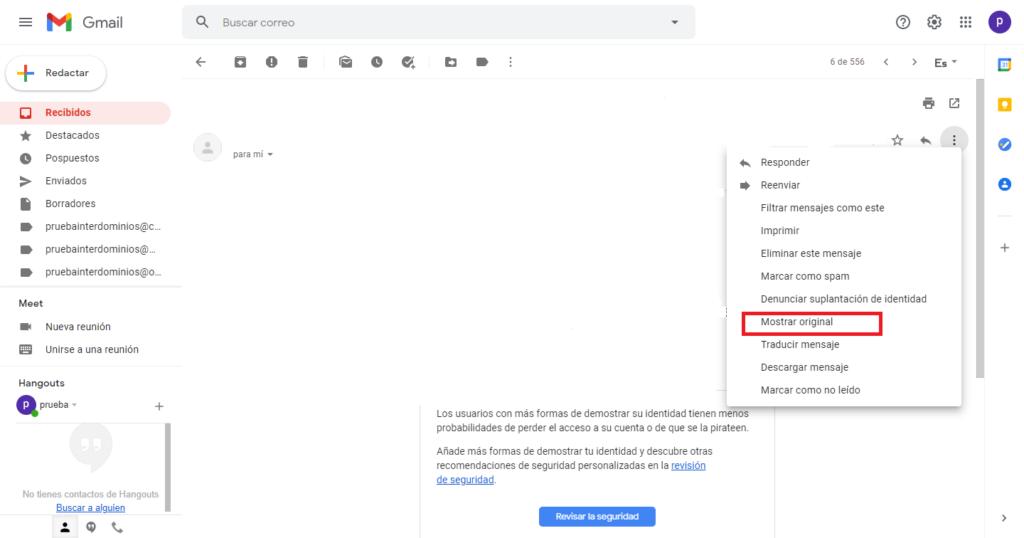 cabeceras gmail
