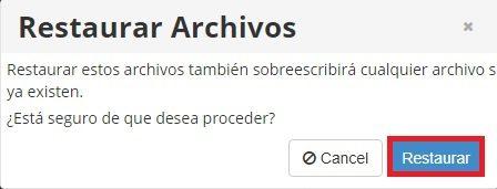 Restaurar archivo