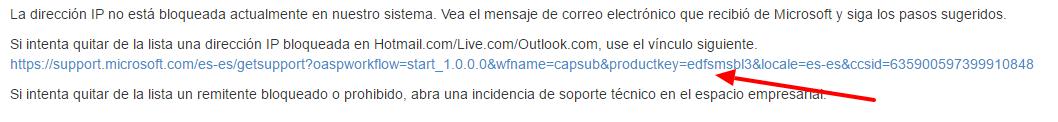 Acceso deslistar ip Microsoft