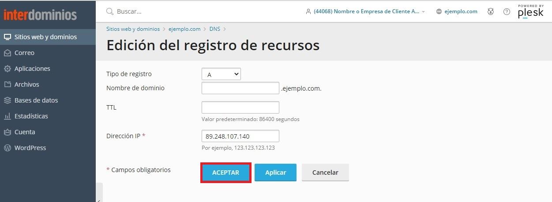 Editando un Registro