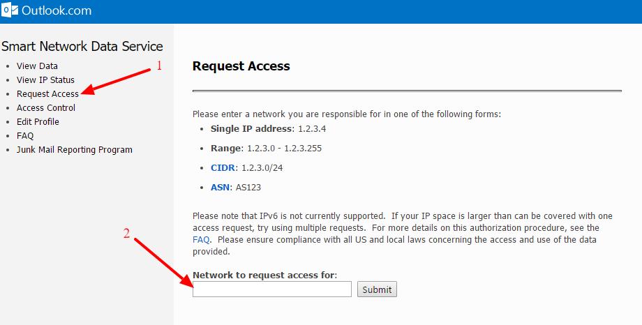Servicio SNDS de Microsoft