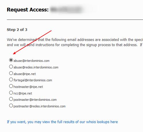 Seleccionar correo SNDS