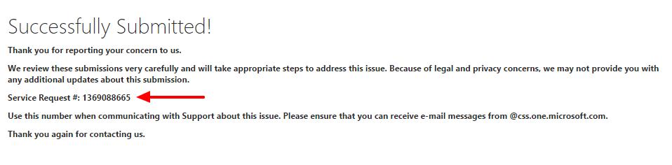 Solicitado deslistado Microsoft