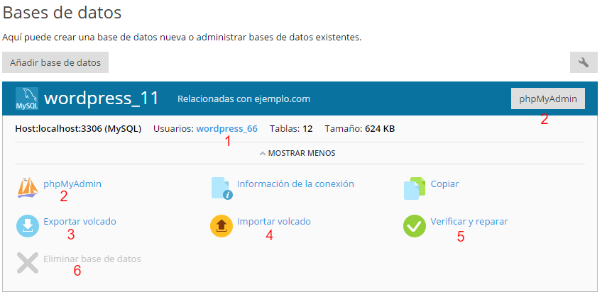 acceso base de datos