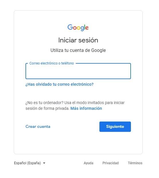 Iniciar sesion con nuestra cuenta de google