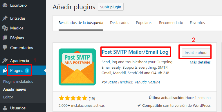 Usar correo desde WordPress con gmail 1