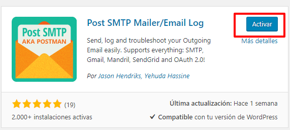 Usar correo desde WordPress con gmail 2