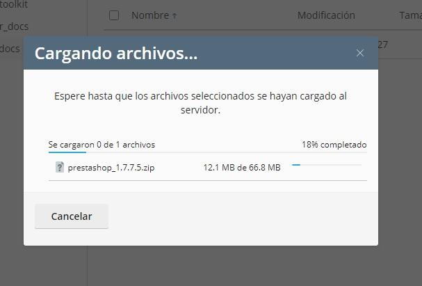 Proceso de Subida de Archivos