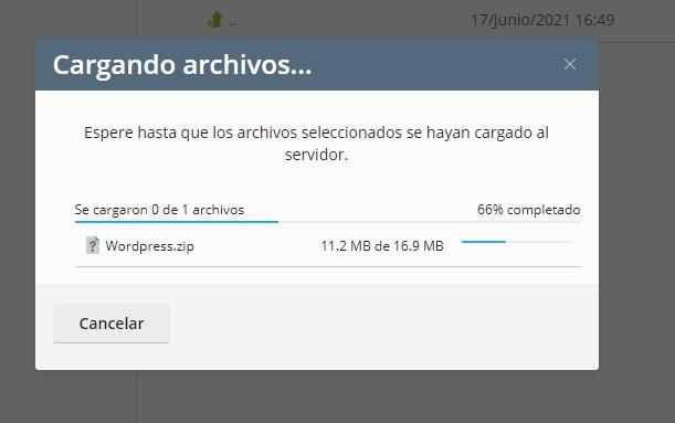 Subiendo archivos