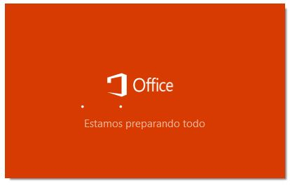 Iniciando instalación de Office 365